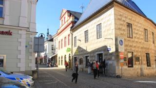 Dům na pěší zóně v centru Tábora z roku 1555.
