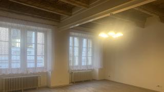 Pronájem prostorného světlého bytu 4+kk  po částečné rekonstrukci v samém centru Prahy.